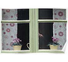 Cottage Window Sill Visby Poster
