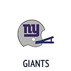 New York Giants NFL Helmet iPhone Case by aschwall33