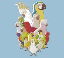 Parrot Party One Piece - Short Sleeve