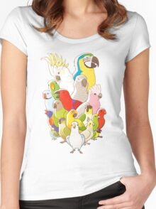 Parrot Party Women's Fitted Scoop T-Shirt