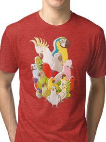 Parrot Party Tri-blend T-Shirt
