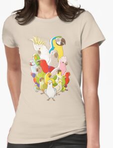 Parrot Party Womens Fitted T-Shirt