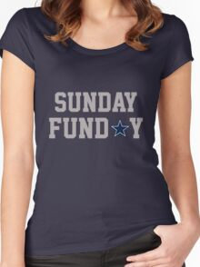 Dallas Sunday Gray Women's Fitted Scoop T-Shirt