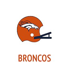 Denver Broncos NFL Helmet iPhone Case by aschwall33