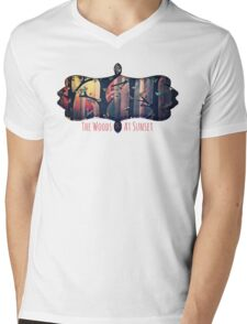 The Woods at Sunset Mens V-Neck T-Shirt