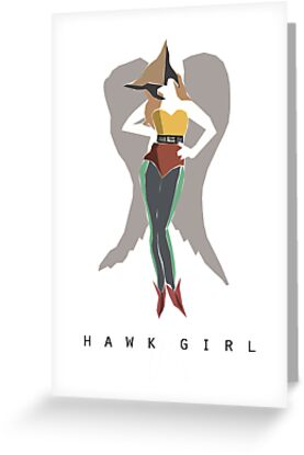 Hawk Girl Minimalist Poster by hispurplegloves