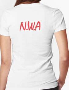 N.W.A coming straight out of Compton  Womens Fitted T-Shirt