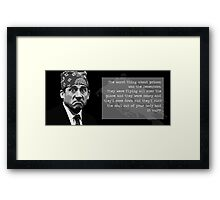 The Office - Prison Mike Framed Print