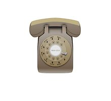 Rotary Phone (beige on white) by elert