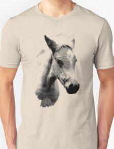 Horse Face and Head. Digital Farm Animal Engraving Image Unisex T-Shirt