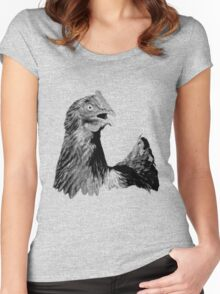 Rooster Digital Engraving. Farm Animal Images and Prints. Women's Fitted Scoop T-Shirt