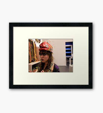 The Model in the Paper Maché Hat Framed Print