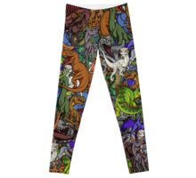 Chibi Dinosaurs Leggings