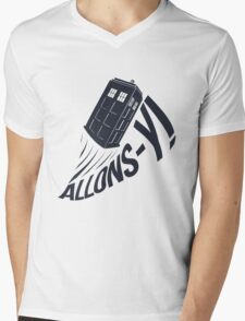 """Allons-y !"" - The Doctor Mens V-Neck T-Shirt"