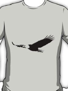 Soaring Bald Eagle. Bald Eagle In Flight. Wildlife Digital Engraving Image. T-Shirt