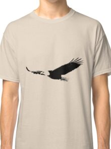 Soaring Bald Eagle. Bald Eagle In Flight. Wildlife Digital Engraving Image. Classic T-Shirt