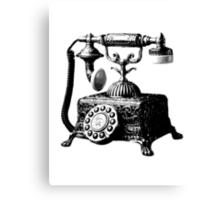 Antique Telephone. Digital Antique Engraving Image Canvas Print
