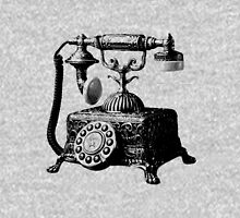 Antique Telephone. Digital Antique Engraving Image Unisex T-Shirt