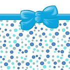 Dots Spots, Ribbon and Bow, Blue White by sitnica