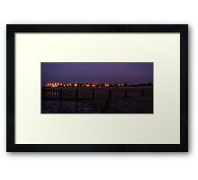Leysdown at night Framed Print