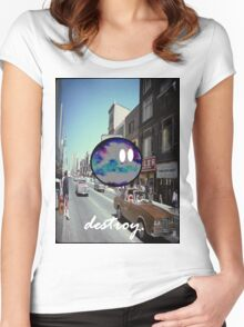 destroy.#2 Women's Fitted Scoop T-Shirt