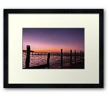 Central Beach Framed Print