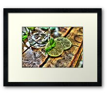 Mint and Lime Framed Print