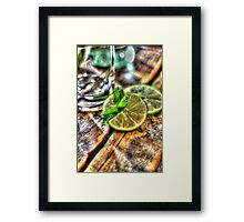 Mint and Lime II Framed Print