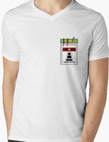 Chuck pocket protector Mens V-Neck T-Shirt