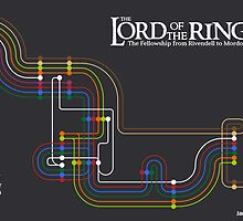 Lord of the Rings Fellowship Route Map by jamesrostron
