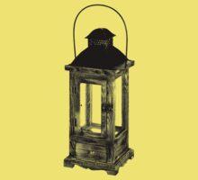 Antique Vintage Lantern. Antique Digital Engraving Vintage Image. Kids Clothes