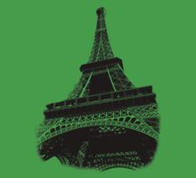 Eiffel Tower Digital Engraving Kids Clothes