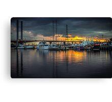 Victoria Harbour Sunset Canvas Print