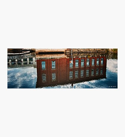 Maine Mill Reflections Photographic Print
