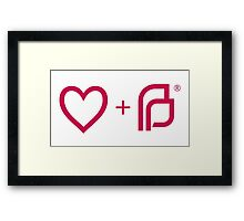 I ♡ Planned Parenthood pw Framed Print