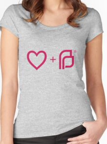 I ♡ Planned Parenthood pw Women's Fitted Scoop T-Shirt