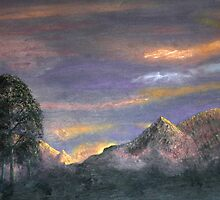 Peaks at Sunset by LisaMarina