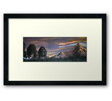 Peaks at Sunset Framed Print