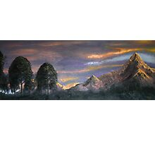 Peaks at Sunset Photographic Print