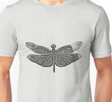 Dragonfly Digital Engraving. Insect Digital Art. Unisex T-Shirt