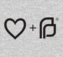 I ♡ Planned Parenthood bw One Piece - Short Sleeve
