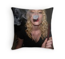 Smoke Ring Throw Pillow