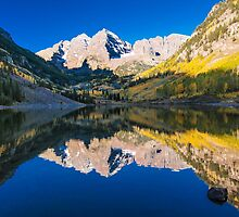Maroon Bells and Maroon Lake by Gregory J Summers