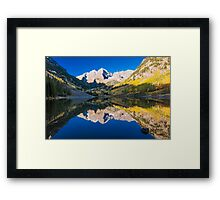 Maroon Bells and Maroon Lake Framed Print