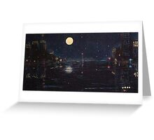 Night Harbor Greeting Card