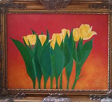 Yellow Tulips Framed by trinabird