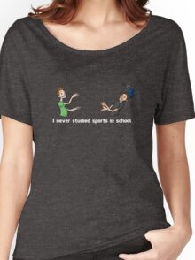 I Never Studied Sports In School Women's Relaxed Fit T-Shirt