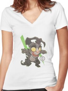 Lil' DeathClaw Women's Fitted V-Neck T-Shirt