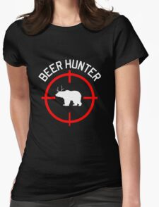 Beer Hunter Womens Fitted T-Shirt