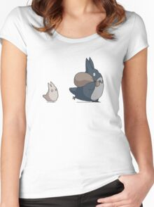Totoro's friends Women's Fitted Scoop T-Shirt